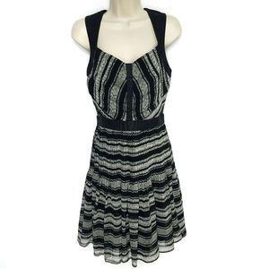 AX Armani Exchange Dress SZ 2 Black Gray A-Line